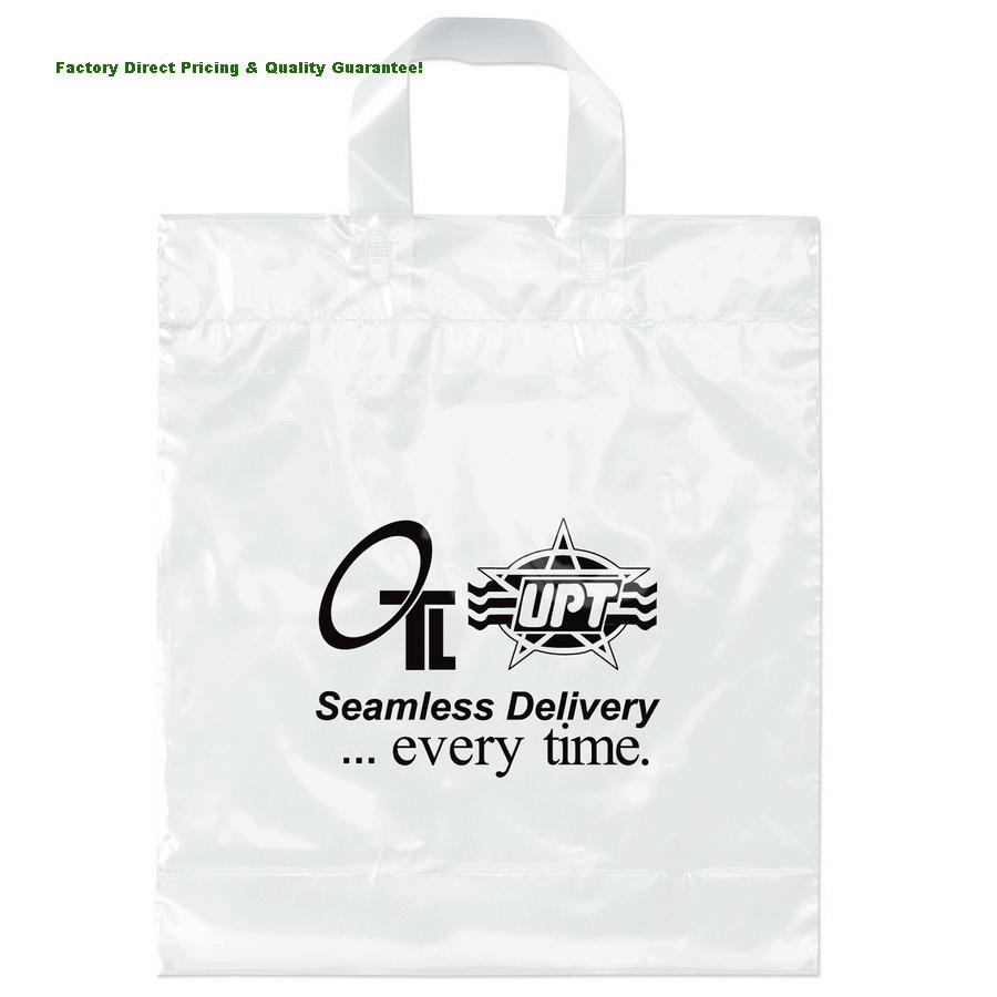 china custom soft loop handle plastic bags, handle plastic bags, Soft Baits