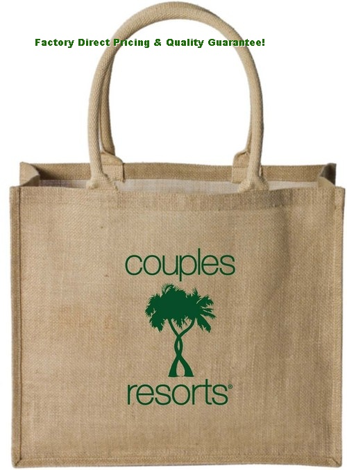 Natural Jute Supermarket Shopping Bags, China Custom Original Jute ...