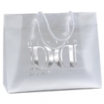 Frosted Clear Cotton Handle Plastic Bags