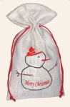 Factory Direct Christmas Jute Pouch
